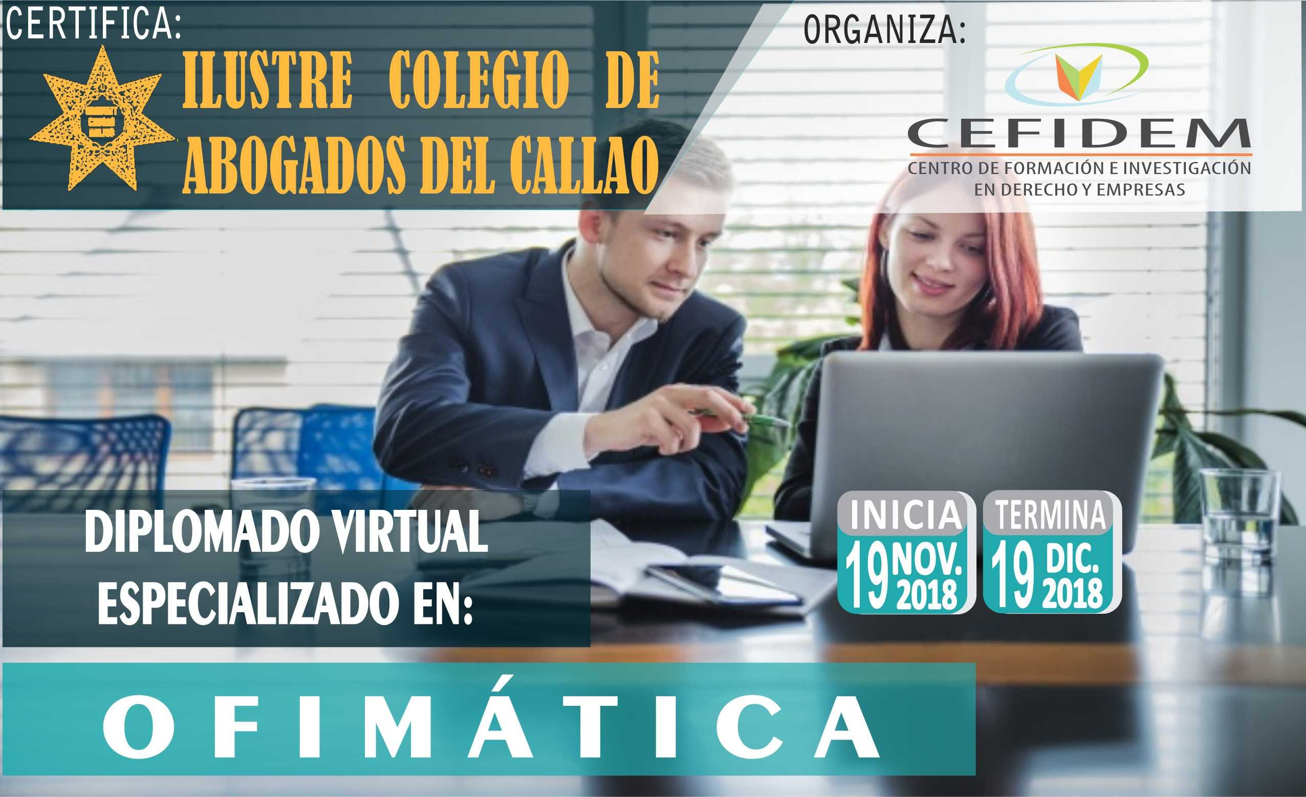 DIPLOMADO VIRTUAL ESPECIALIZADO EN OFIMÁTICA (19/11/18)