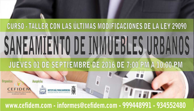 Saneamiento de Inmuebles Urbanos - Presencial (01-09-2016)